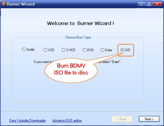 Burn to Blu-ray Disc, Easy Blu-ray Creator