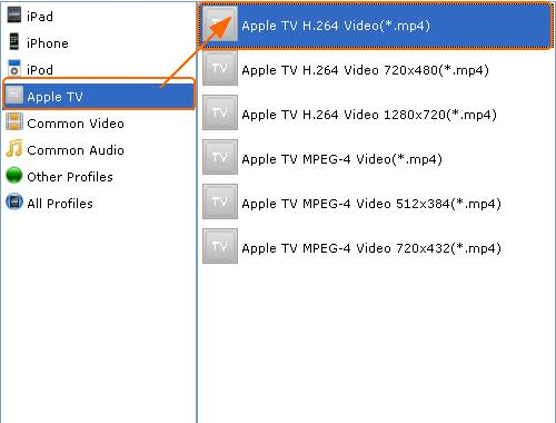 Choose output video format for Apple TV